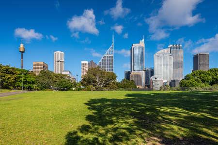 SYDNEY, AUSTRALIA - NOVEMBER, 7: Shady park - a place for recreation for people. Sydney Stock Photo