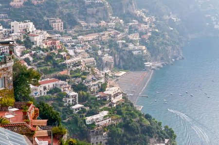 tourist spot: Positano is a picturesque town on the Amalfi Coast, Italy