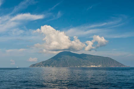 salina: Salina is an island in the Aeolian Islands, Sicily, Italy. Stock Photo