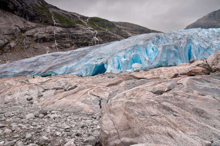 jostedalsbreen: Jostedalsbreen glacier in Norway - melting because of Global warming.