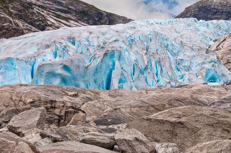 jostedalsbreen: Jostedalsbreen glacier in Norway Stock Photo