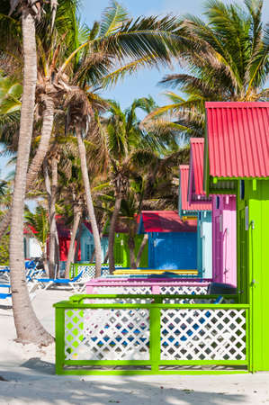 caribbean climate: Beach bungalows on Princess Cays in the Bahamas