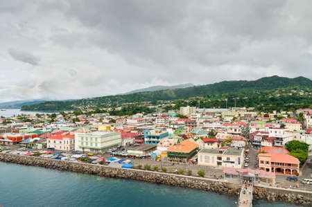 caribbean climate: Roseau, Dominica - December 4, 2011: Roseau on a cloudy day at December 4, 2011, Dominica.