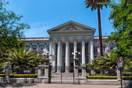 national congress: Santiago de Chile, Chile - December 2, 2012: The Former National Congress Building (Ex Congreso Nacional) is the former home of the Chilean Congress. Editorial