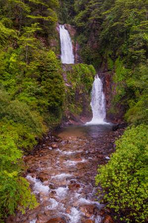 puerto: Waterfalls between Puerto Aisen and Puerto Chacabuco, Chile