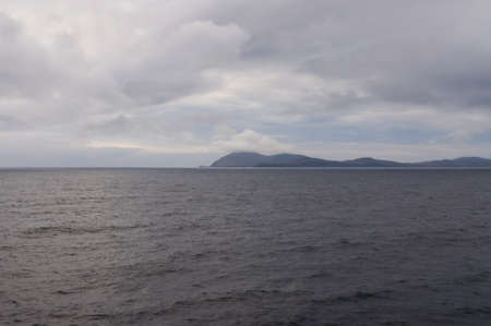 physical geography: Cape Horn in the evening in cloudy weather, Chile, at 7.40pm