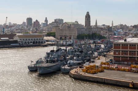 montevideo: Montevideo, Uruguay - December 15, 2012: Naval ships of the National Navy of Uruguay at the Port of Montevideo, Uruguay.
