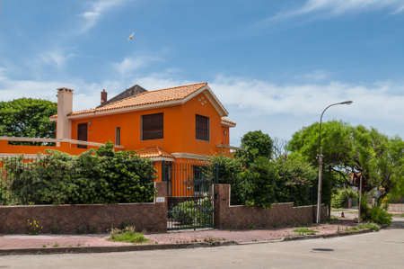 Montevideo, Uruguay - December 15, 2012:  Colorful house in Montevideo, Uruguay. Editorial