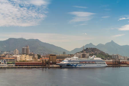 rio: Rio de Janeiro, Brazil - December 20, 2012: Cruise Ship Aida Cara brings passengers to the Rio de Janeiro, Brazil.