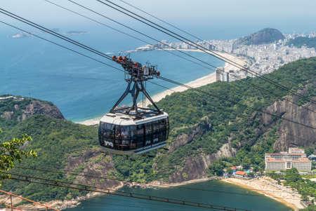 december 21: Rio de Janeiro, Brazil - December 21, 2012: Sugarloaf cable car in Rio de Janeiro, Brazil.