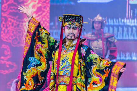 tang: Xian, China - October 16, 2013: Tang Dynasty dance and Music Show at the Sunshine Grand Theatre, Xian City, Shaanxi Province, China