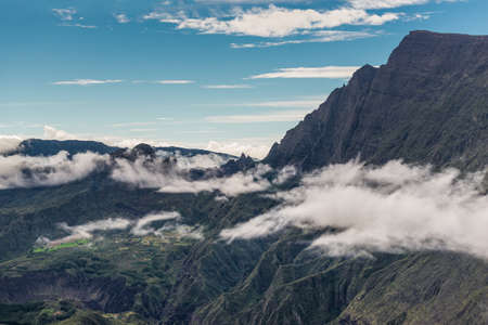 cirque: Cirque de Mafate taken from Le Maido on French overseas department of Reunion Island in the Indian Ocean