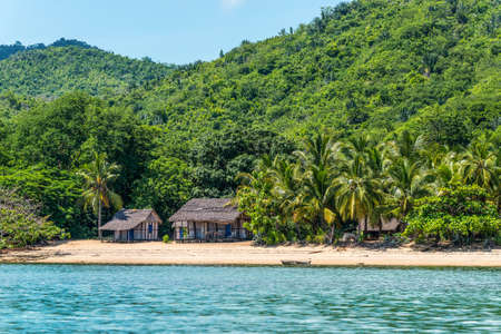 Lokobe Strict Reserve beach view in Nosy Be, Madagascar Stock Photo