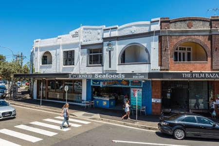 corner of house: Sydney, Australia - November 8, 2014: Unidentified people near the corner house in the suburb of Bondi, Sydney, Australia.