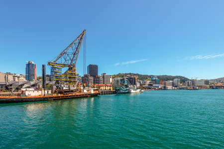 wellington: Wellington, New Zealand - November 18, 2014: The Harbourfront Wellington, New Zealand, capital city of New Zealand. Modern architecture.