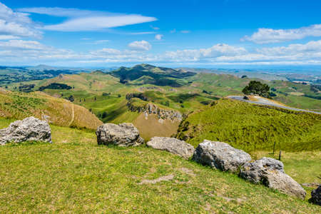 unsettled: View from Te Mata Peak Hawkes Bay New Zealand Stock Photo