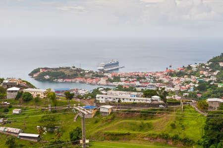 grenada: Saint Georges, Grenada - December 3, 2011: Panorama view over Saint Georges on December 3, 2011 in Grenada, Caribbean. Editorial