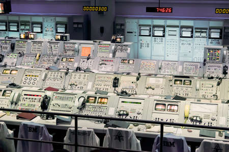 cape canaveral: Cape Canaveral, USA - November 22, 2011: Inside Mission Control Center at Kennedy Space Center NASA last century, Cape Canaveral.
