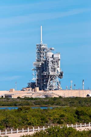 cape canaveral: Titusville, Cape Canaveral, Florida, USA - November 22, 2011: NASA Space Shuttle Launch Center - the launch pad where the final Space Shuttle will go into orbit Summer of 2011. Editorial