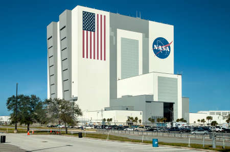 cape canaveral: Cape Canaveral, USA - November 22, 2011: Exterior view of NASA Launch Control Center at Kennedy Space Center, Cape Canaveral in Florida