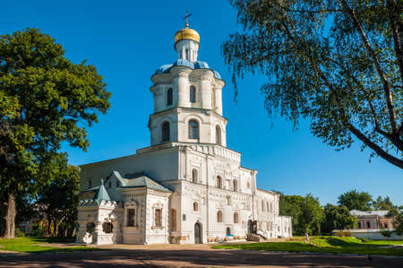 collegium: Chernihiv, Ukraine - August 28, 2016: Collegium medieval building - the first higher religious educational institution in Chernihiv, Ukraine.