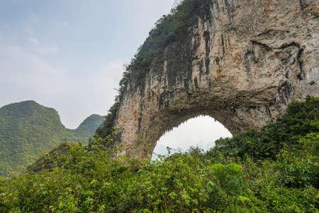 Famous moon hill limestone arch near Yangshou, China