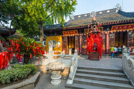 Suzhou, China - October 23,2016: Baoen Temple complex (Beisi Temple or North Temple Pagoda) in Suzhou, Jiangsu Province, China. One of the Buddha temples in China.
