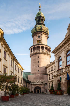 The Tower is the symbol of the city of Sopron. Its cylindrical lower part was built on the remains of the Roman town wall, and served as the north tower of the city from the 13th century onwards. The tower acquired its present form with its Baroque balcon