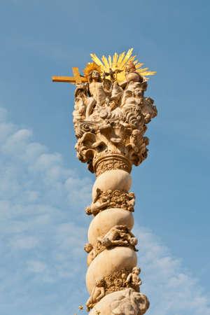 holy trinity: Sopron, Hungary - September 27, 2009:  Statute of the Holy Trinity or Plague Column (Marian Column) in Sopron , Hungary. Editorial