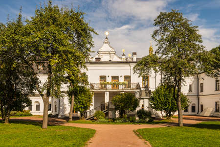high section: Kyiv, Ukraine - September 20, 2014: Metropolitan House - an architectural monument of the XVIII century, the former for 200 years the seat of the Metropolitan of Kiev, and now - a museum as part of the national reserve Sophia of Kyiv, on Saint Sophia Cath Editorial