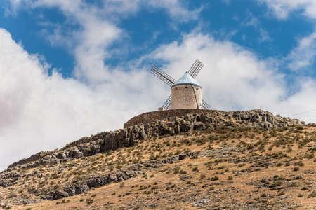 Windmill of Cervantes Don Quixote in Consuegra, Toledo, Castile La Mancha, Spain, Europe