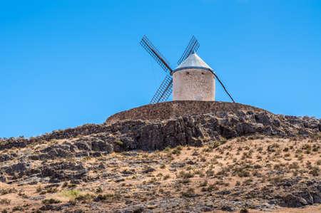 mancha: Windmill of Cervantes Don Quixote in Consuegra, Toledo, Castile La Mancha, Spain, Europe