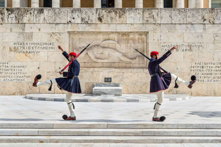 Athens, Greece - November 1, 2017: Changing of the presidential guard (the so-called