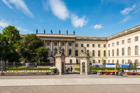 Berlin, Germany - May 28, 2017: View of Humboldt University in Berlin, Germany. Humboldt University is one of Berlin oldest universities, founded in 1810.
