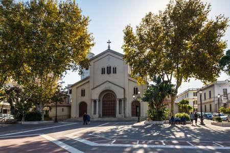 Reggio Calabria, Italy - October 30, 2017: The church of SantAgostino is a sacred building of Reggio Calabria located in Piazza SantAgostino in Reggio Calabria, Italy (Christian Roman Catholic rite religion).