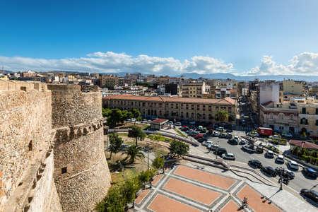 Reggio Calabria, Italy - October 30, 2017: Aerial view over the city of Reggio di Calabria from Aragonese Castle in Reggio Calabria, Italy.