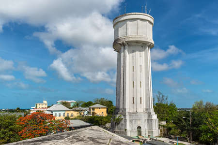 Nassau, Bahamas - May 3, 2019: View of the Water Tower in Nassau, New Providence, Bahamas. Stock fotó