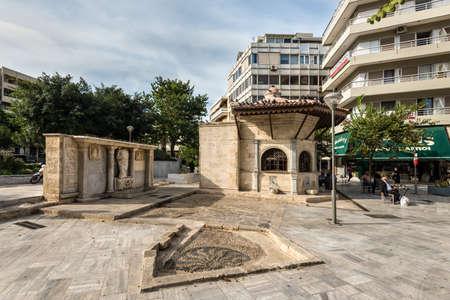 Heraklion, Greece - November 12, 2019: Building of the Pancreta Cooperative Bank in Heraklion, Crete Island, Greece. Editorial