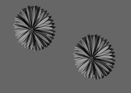 bulk: Fantastic bulk flower in shades of gray. Illustration