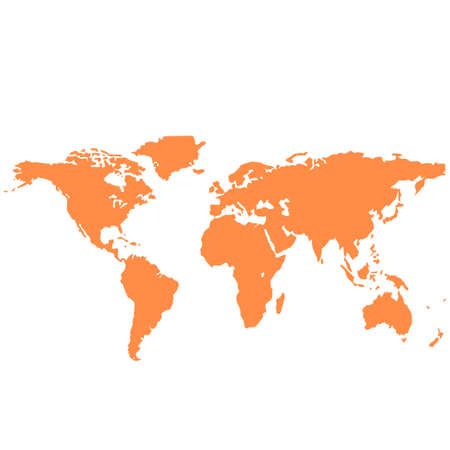 vector image: A large map of the world with the image of all the continents. Vector illustration