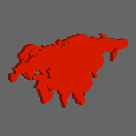 eurasia: Eurasia Continent. Red color on a gray background Illustration