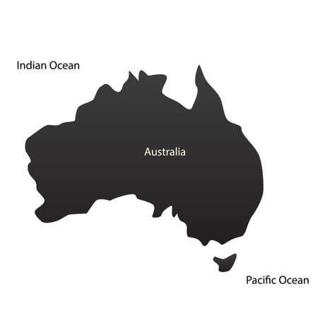 the oceans: Australian continent and two oceans. Vector illustration Illustration