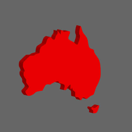 Australian continent. Vector illustration on gray background