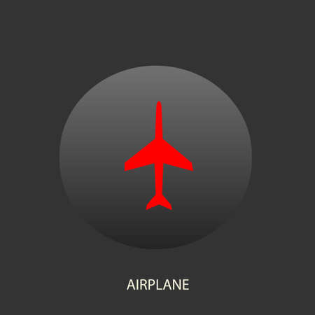 airbus: Illustration on which the plane icon against a dark background is represented