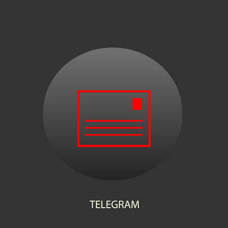 telegrama: Illustration on which the telegram icon against a dark background is represented