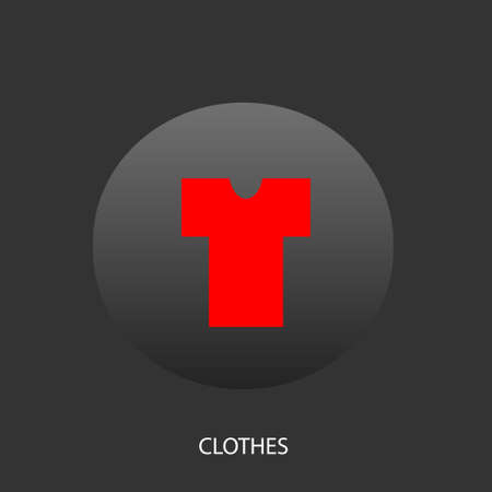 undershirt: Illustration on which the undershirt icon against a dark background is represented
