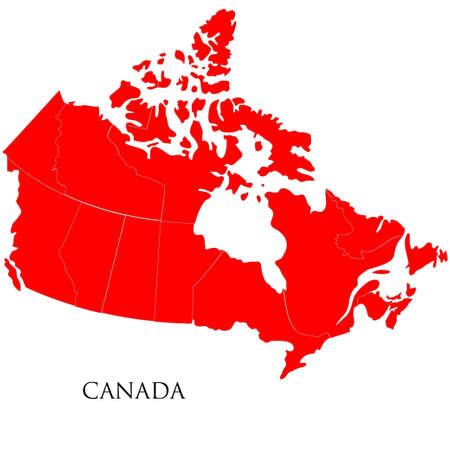 saskatchewan flag: Detailed map of Canada isolated on white background