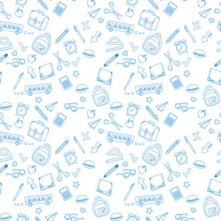 Fournitures scolaires pour l'école. Illustration vectorielle