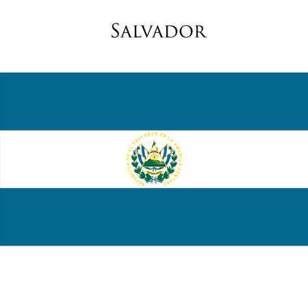 latina: Flag of El Salvador against white background. Vector illustration