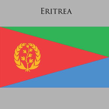 law of brazil: Eritrean flag on a gray background. Vector illustration